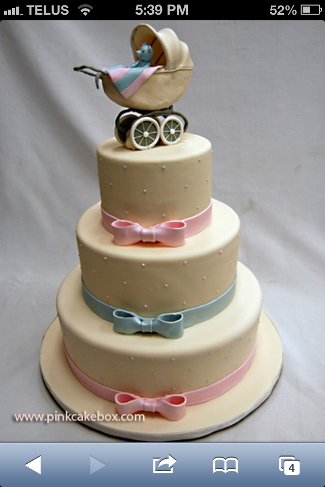 neutral baby shower cake idea babies maybe pinterest