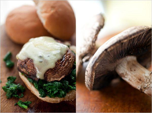 Portobello mushroom cheeseburgers. I think the holiday gorging is ...