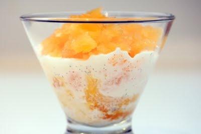 Tangerine Granita with Vanilla Bean Cream