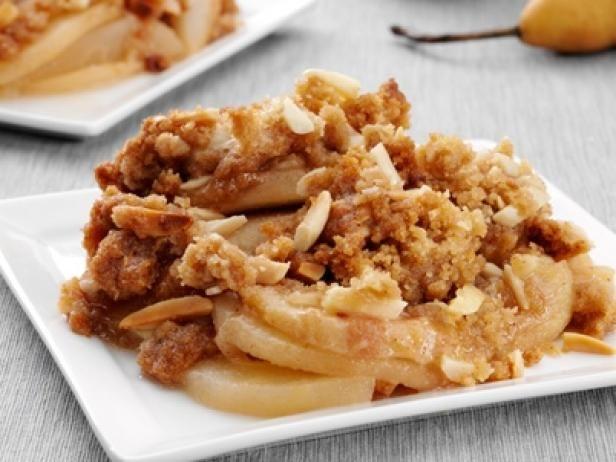 food network fruit crisp recipes | Pear Crisp with Almonds Recipe ...