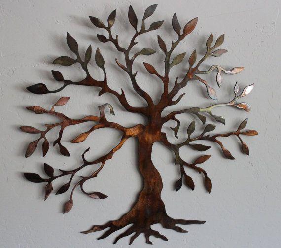 olive tree tree of live metal wall art decor. Black Bedroom Furniture Sets. Home Design Ideas