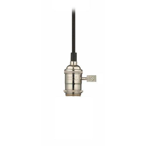 classics lighting bare bulb vinyl cord socket mini pendant light. Black Bedroom Furniture Sets. Home Design Ideas