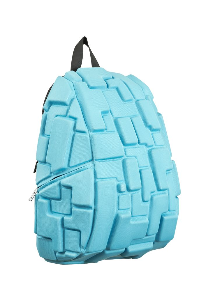 Love this new BLOK style from MadPax™, the company that brought you the Spiketus Rex (you know that backpack with all the spikes sticking out of it?).  Available in wide range of colors: dark blue, bright orange, light gray, olive, black, red, and hot pink.