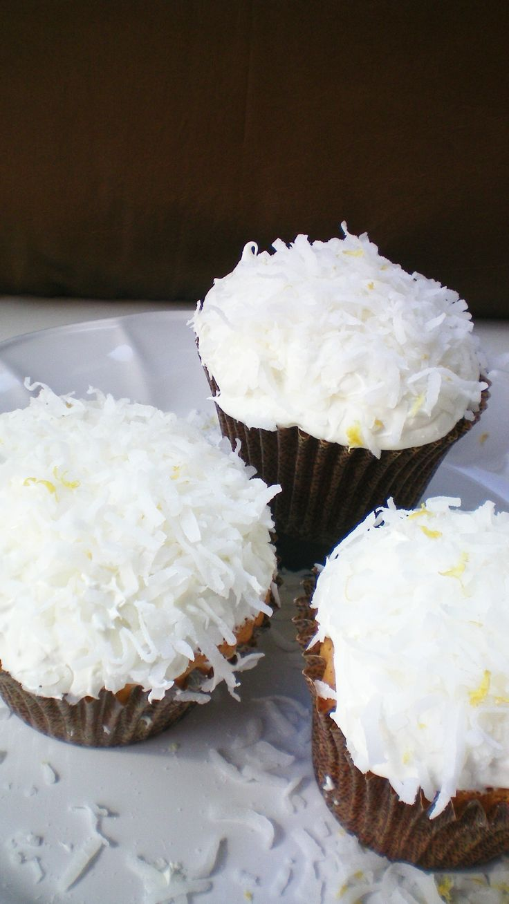Lemon Coconut Cupcakes With Cream Cheese Frosting Recipe ...