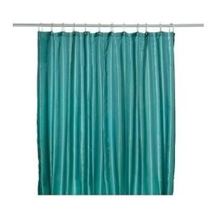 Ikea saltgrund water repellent fabric shower curtain green blue at