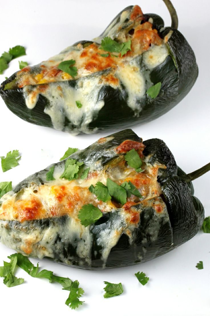 Stuffed Poblano Peppers | grilled | Pinterest