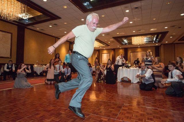 Older Greek Man Dances At Wedding