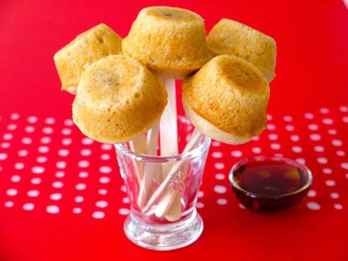 Pancake Sausage Muffins on a Stick | Recipe