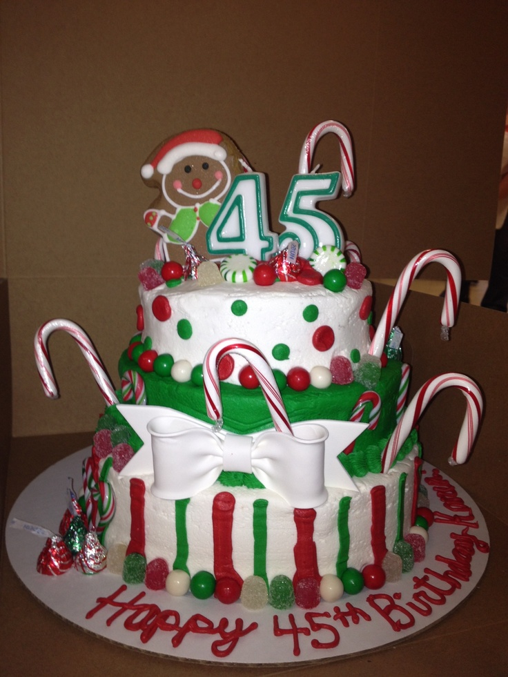 Cake Themed Birthday Party : Christmas themed birthday cake. Christmas-y Birthday ...