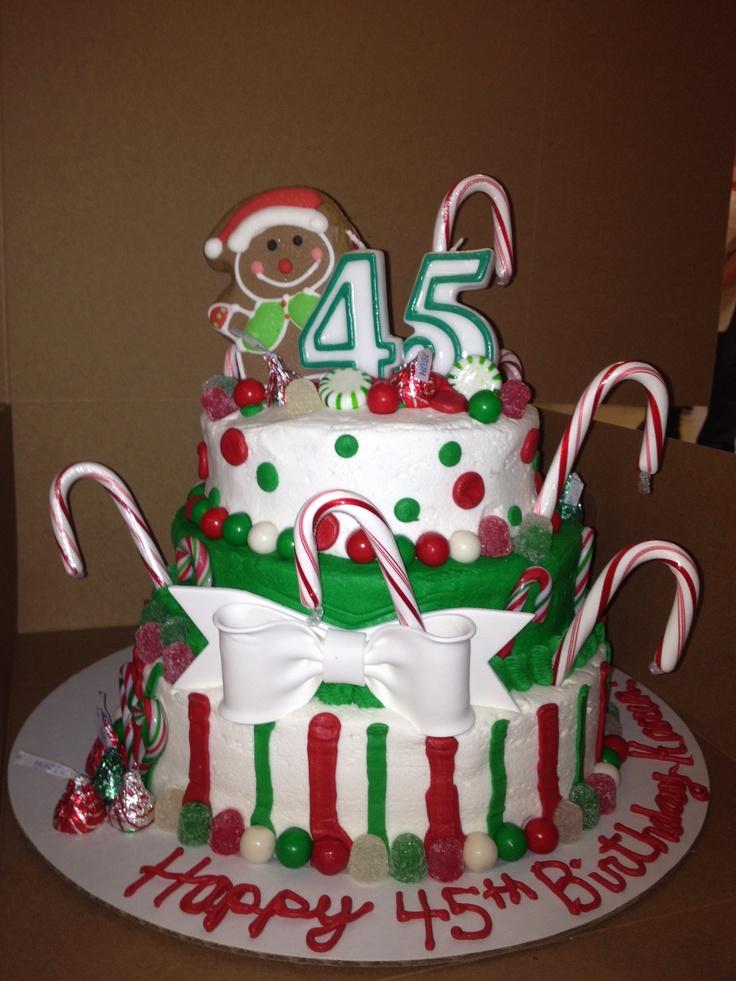 Themed Cake For Birthday : Christmas themed birthday cake. Christmas-y Birthday ...