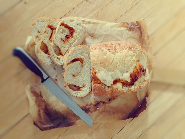 Pesto Swirl Bread - Alli-N-Son (http://morselsoflife.com/five-friday ...