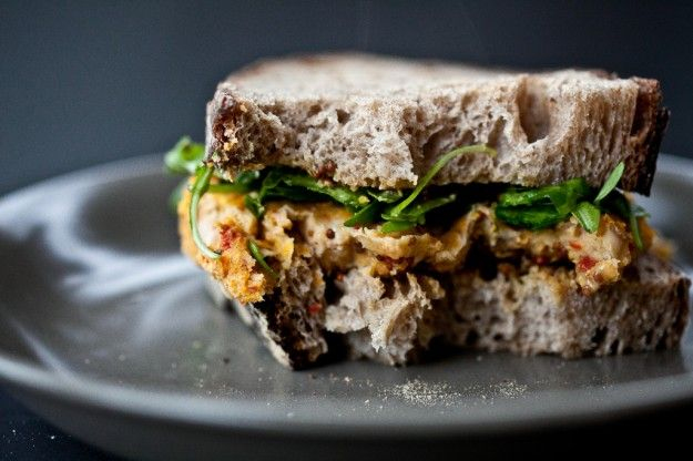 white bean burger with rosemary and sun-dried tomatoes (not without ...
