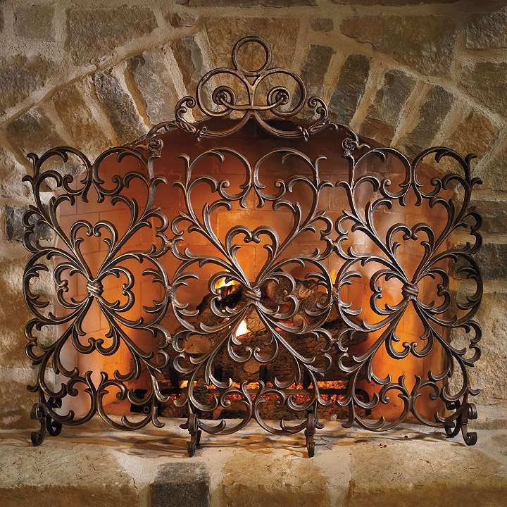 Cast Iron Scrollwork Fireplace Screen Frontgate