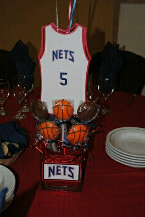 Basketball Theme Centerpieces Birthday Parties Pinterest