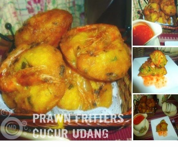 Prawn Fritters/Cucur Udang -a Malaysian teatime kuih
