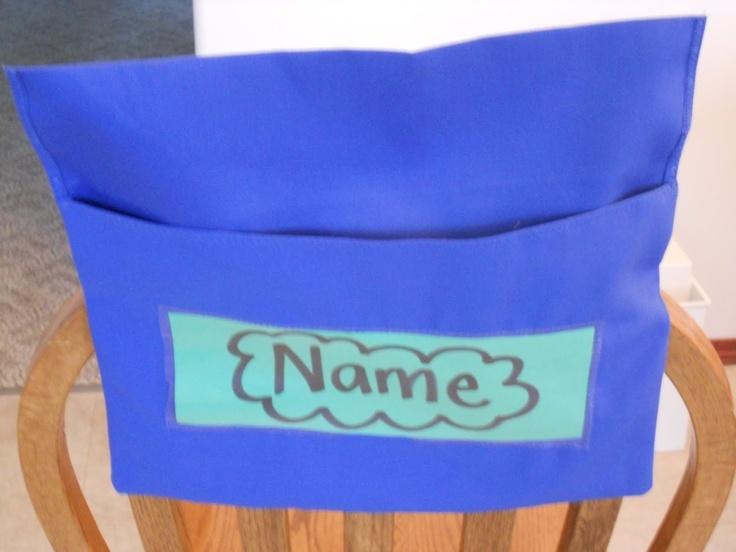DIY Chair Pockets Fun Classroom Organization And