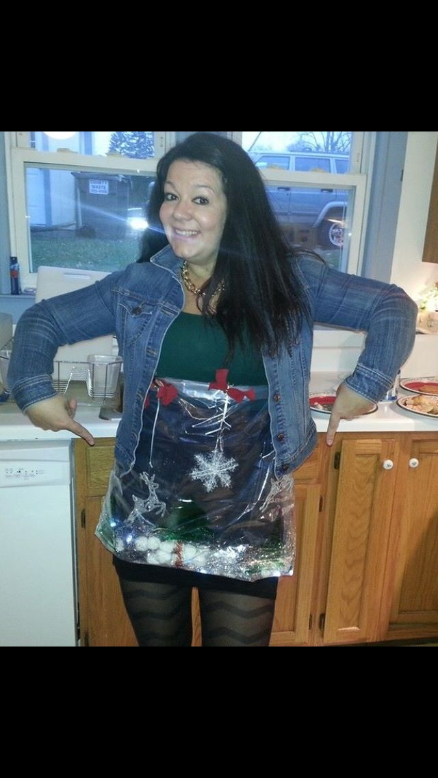 ... ever snow globe mini skirt! I made it with a shower curtain liner