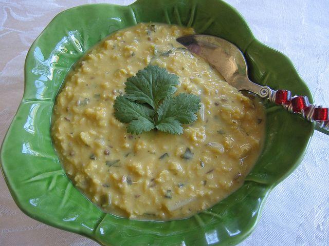 Coconut red lentil soup | Veggie Meals {Pescatarian} | Pinterest
