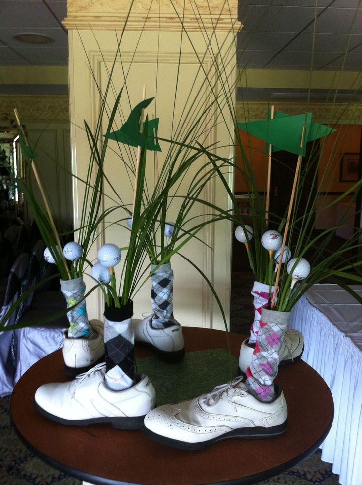 golf shoe centerpieces aa sports centerpieces