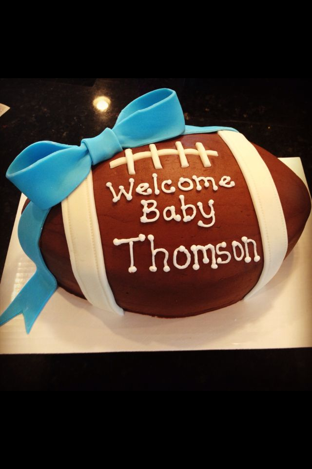 baby boy football shower cake baby showers pinterest