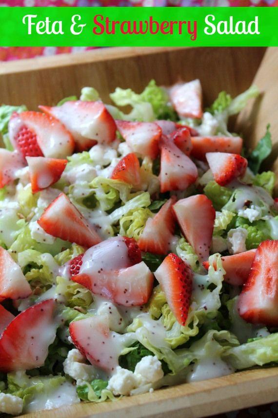 salad with bacon and feta strawberry and feta salad recipe key ...