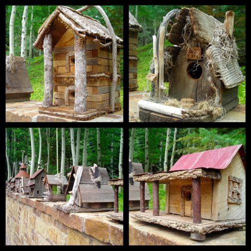 Rustic Designs Birdhouse Ideas Pinterest