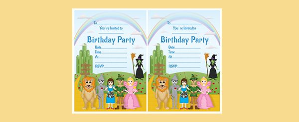 Wizard Of Oz Invitation is awesome invitations template