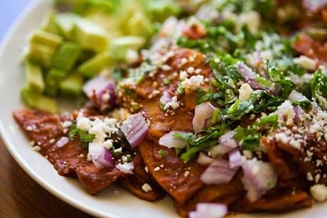 Vegetarian Chilaquiles | Tacos, Burritos, Enchiladas.... | Pinterest