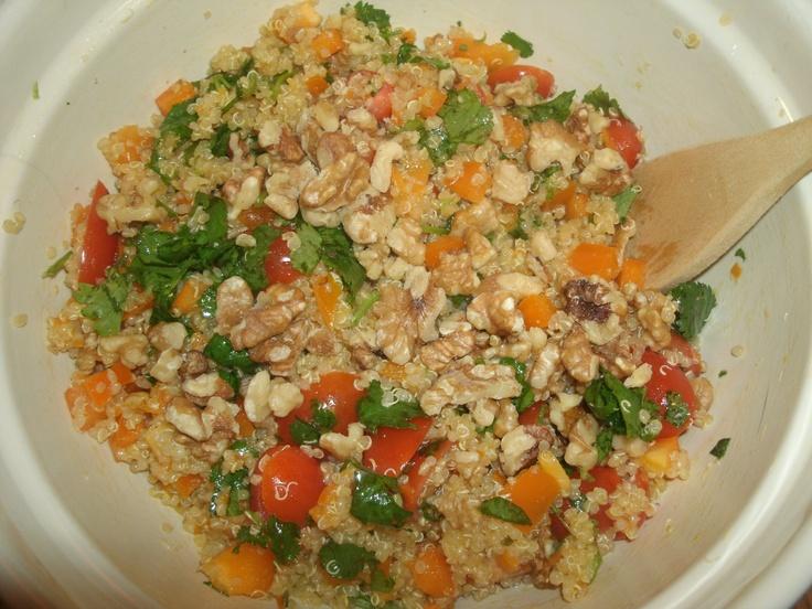 My Homemade Quinoa Salad with Walnuts | Quinoa & Farro | Pinterest