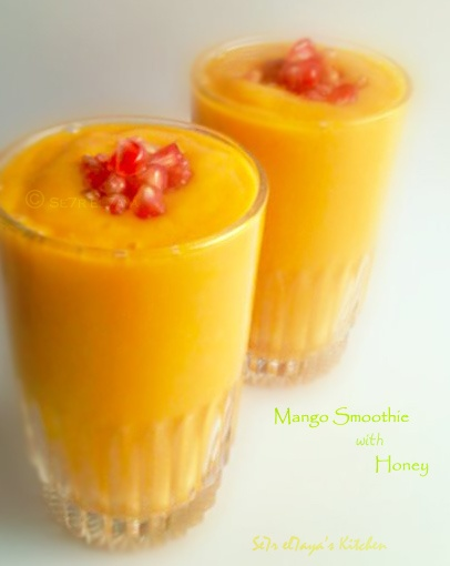 Mango Smoothie with Honey .. | Delicious Food | Pinterest