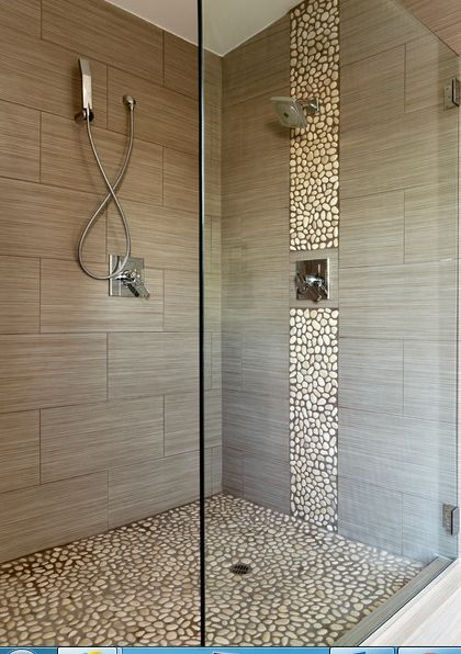 pebble tile bathroom ideas pinterest