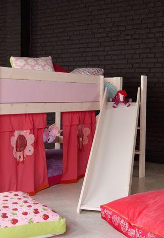 Hoogslaper met glijbaan Ikea  slaapkamer zoon  Pinterest