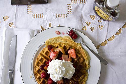Rich Buttermilk Waffles | Breakfast | Pinterest