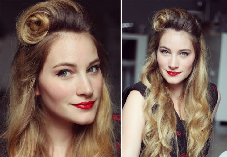 Tuto - Le victory roll façon Pinup ♥ pinup, hair, rockabilly, hair ...