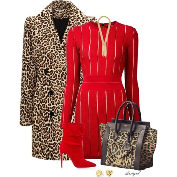 """Leopard Coat Contest"" by sherryvl on Polyvore"