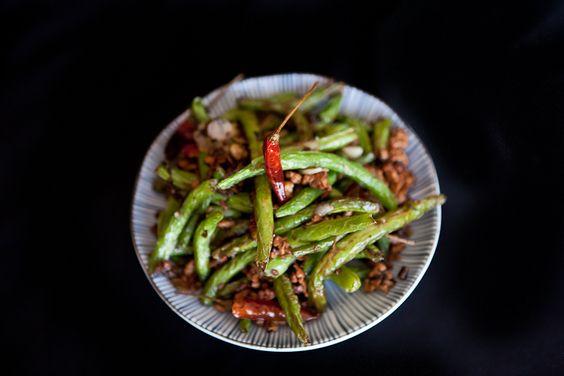 Sichuan Dry-Fried Green Beans | Recipe