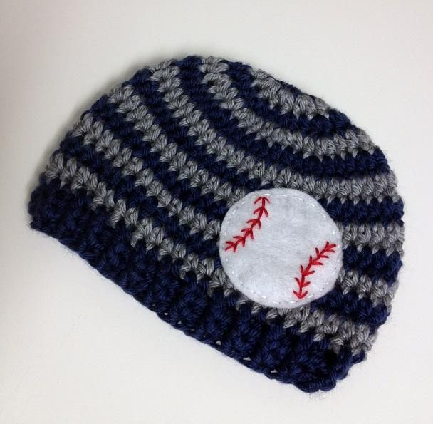 Baby Hat with Baseball Hand Applique Crochet patterns ...