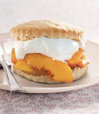 Peach shortcakes | Fruit Recipes & Arrangements | Pinterest