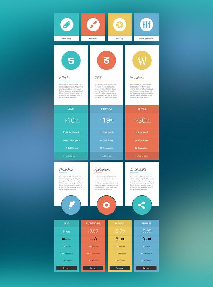 Flat ui kit user interface design pinterest for Sites like touch of modern