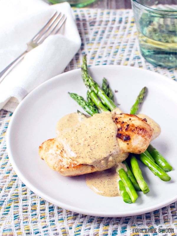 Chicken with a Quick Mustard Cream Sauce | Fork Knife Swoon - Fork ...