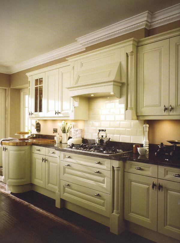 Pale green with cream tiles  For the Home  Pinterest