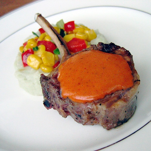 Grilled Lamb chops with Chipotle Mustard and Gorgonzola Mashed ...