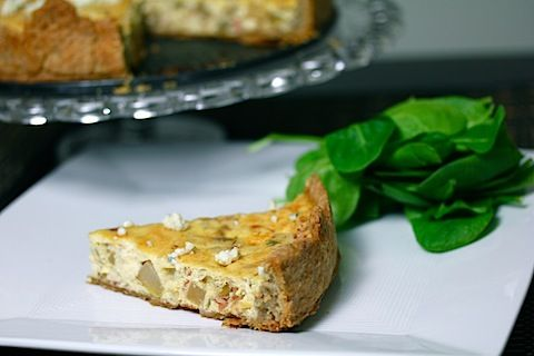 This looks divine.... caramelized-pear-pancetta-and-gorgonzola-quiche