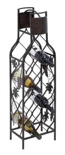 36 wine bottle shaped metal wine rack - Wine rack shaped like wine bottle ...