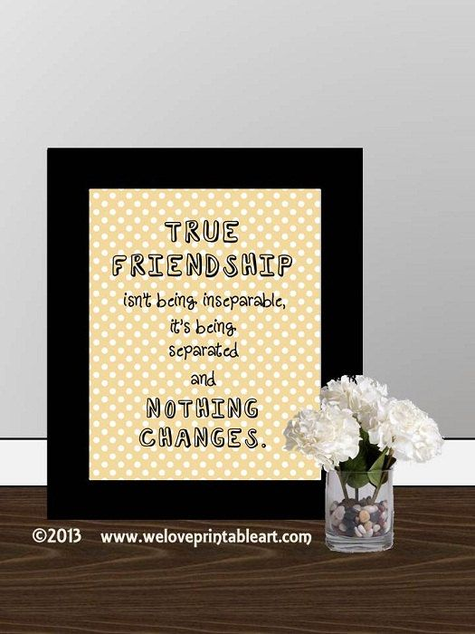 Wall Decor Framed Quotes : Gift for best friend wall decor quote printable art