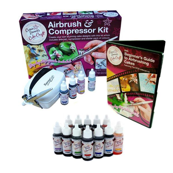 Cassie browns cake crafts airbrush and compressor kit