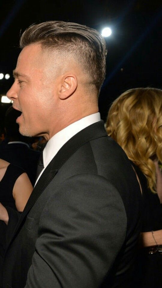 Brad Pitt Hair 2014 2014 brad pitt oscars