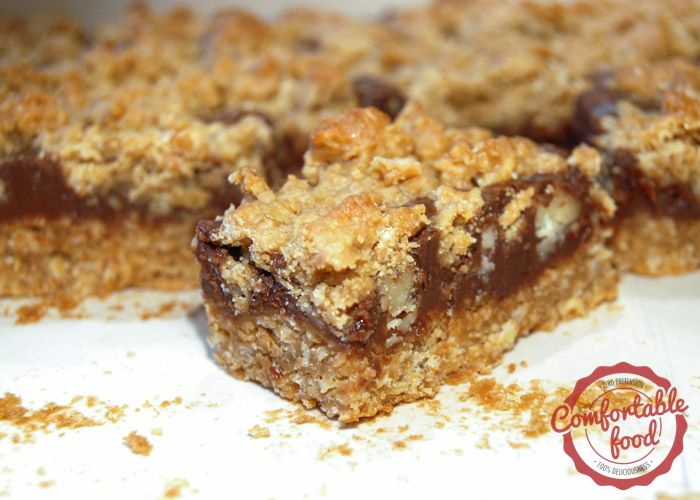 comfortable food - oatmeal fudge bars recipe