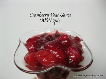 Cranberry Pear Sauce (WW 2 pts)