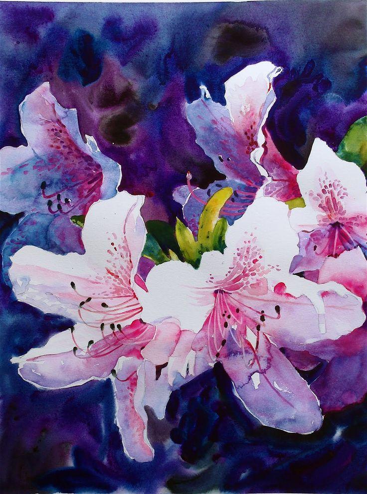 Flower purple watercolor watercolor pinterest for Watercolor flower images